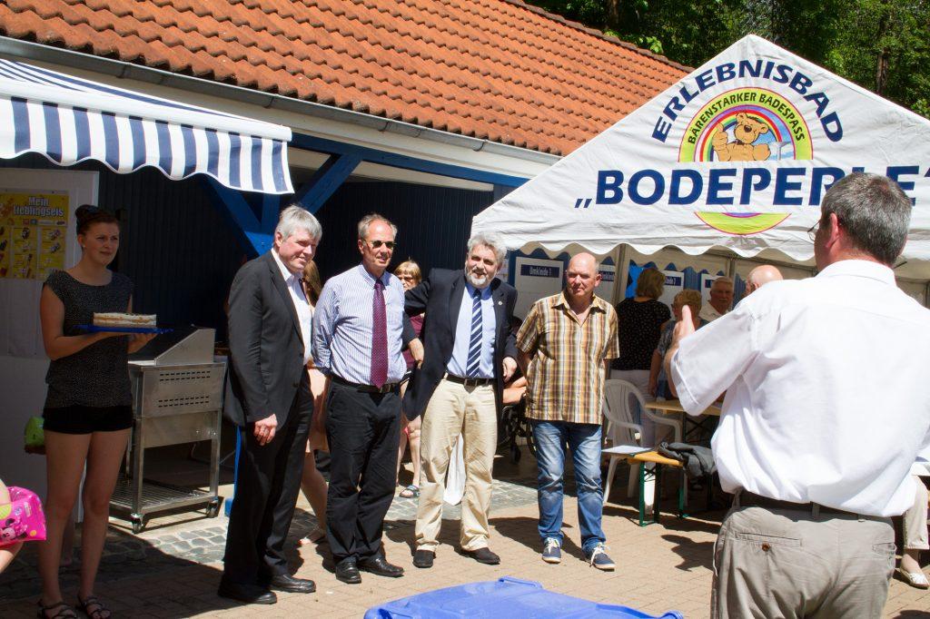 Wir konnten Landrat Martin Skiebe, SPD-Bundestagskandidaten Eberhard Brecht, Wirtschaftsminister Armin Willingmann und Ortsbürgermeister Henry Raschke begrüßen